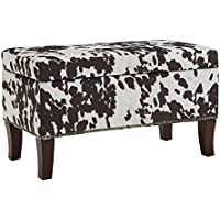 Binche Brown Cow Print Bench/Ottoman