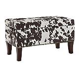 Binche Brown Cow Print Bench/Ottoman