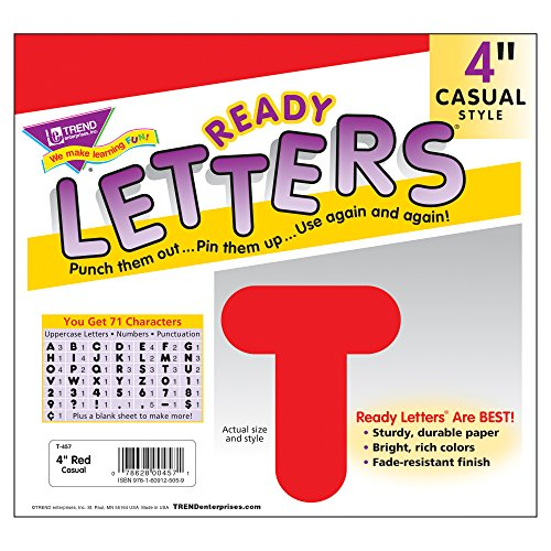 Red 4-Inch Casual Uppercase Ready Letters® Photo #3