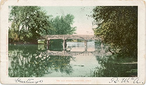 - Historic Pictoric Postcard Print | The Old Bridge, Concord, Mass, 1902 | Vintage Fine Art