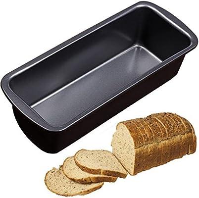Molde antiadherente para pan largo, 23,5 x 9,5 x 6 cm, acero al ...