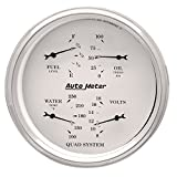 Auto Meter 1610 Old Tyme White Quad Gauge