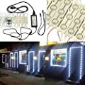 KAPATA 25FT LED Storefront Lights Window Light Kits LED Bulb For Indoor/Outdoor Decoration Lighting SMD5630 DC12V
