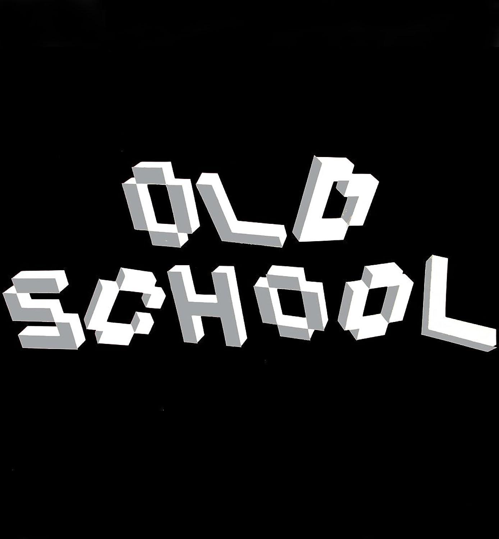 """OLD SCHOOL"" Retro Designer Pullover Black Wizuals Gr??e XL schwarz"