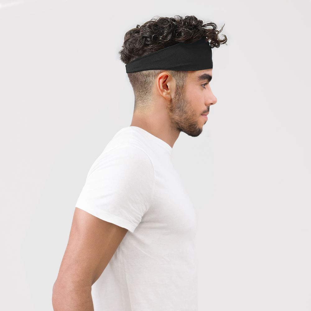BEYAWL Bandeau de Sport pour Hommes et Femmes Non Slip m/èche Elastic Hair Band Coton /Évacuation de lhumidit/é pour Les Sports de Remise en Forme