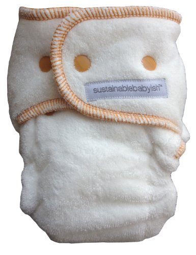Sustainablebabyish Happy Little Clouds - Size 1 7-15 lbs - Honey