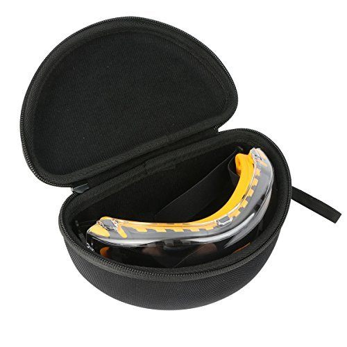 Khanka Carrying Travel Case for DEWALT DPG82-11 Concealer Clear Anti-Fog Dual Mold Safety Goggle