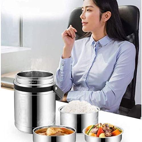 ステンレス製の保温弁当箱食品保温バケット三層銀製食品煮物鍋環境に優しく、掃除も簡単