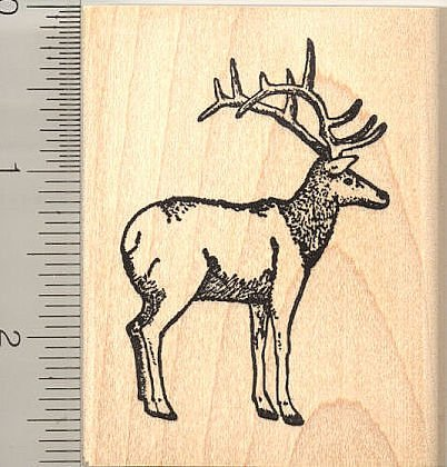 Elk Rubber Stamp