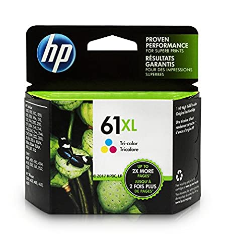 HP 61XL Tri-color High Yield Original Ink Cartridge (CH564WN) (Hp Ink 61 Color And Black)