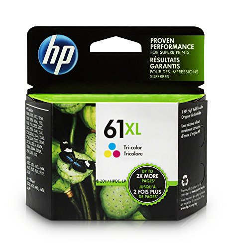 HP 61XL Tri-Color High Yield Original Ink Cartridge For HP ENVY 4500, 4501, 4502, 4504, 4505, 5530, 5531, 5532, 5534, 5535, 5539, HP Officejet 2620, 2621, 4630, 4632, 4635, HP Deskjet 1000, 1010, 1012, 1050, 1051, 1055, 1056, 1510, 1512, 1514, 1051