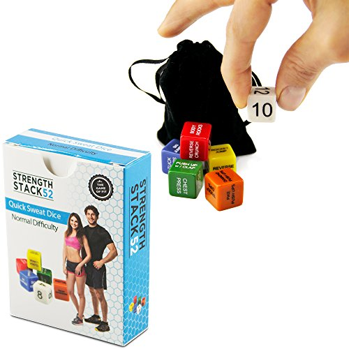 Fitness-Dice-by-Strength-Stack-52-Bodyweight-Exercise-Workout-Game-Designed-by-a-Military-Fitness-Expert-Video-Instructions-Included-No-Equipment-Needed-Burn-Fat-and-Build-Muscle-at-Home