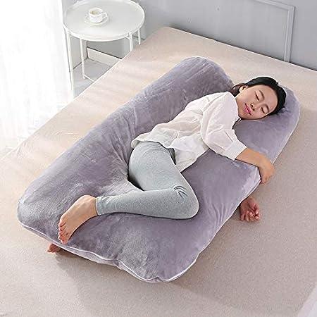 GTRAS Almohada de Descanso, Almohada de algodón PP de Embarazo de Cuerpo  Completo, con Funda reemplazable y Lavable, opción Ideal para los Que  Duermen de Lado,Gray: Amazon.es: Deportes y aire libre