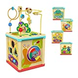 TOP BRIGHT Activity Cube Toys for 1 2 Year Old Girl and Boy Developmental Baby Gifts with Bead Maze...