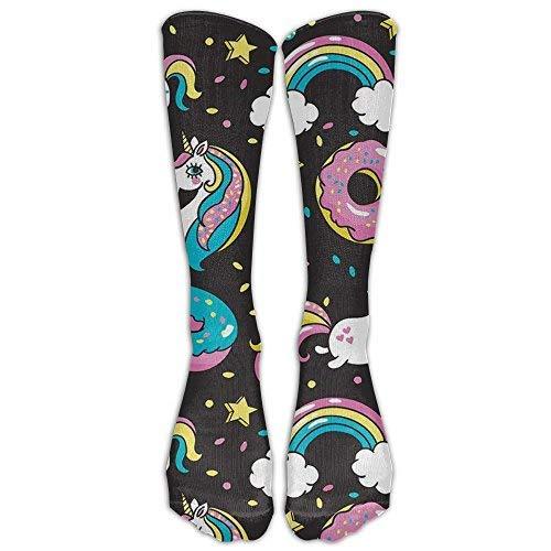 Soccer Anklet (SARA NELL Rainbow Unicorns And Donuts Stockings Long Tube Socks, Great Quality Classics Knee High Socks Sports Socks For Women Teens Girls)