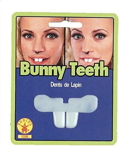 chiwanji 10x White Plastic Rabbit Teeth Fake Buck Teeth Bunny
