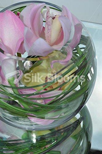 Elegante toque fresco Artificial color orquídea Cymbidium pecera arreglo Floral: Amazon.es: Hogar