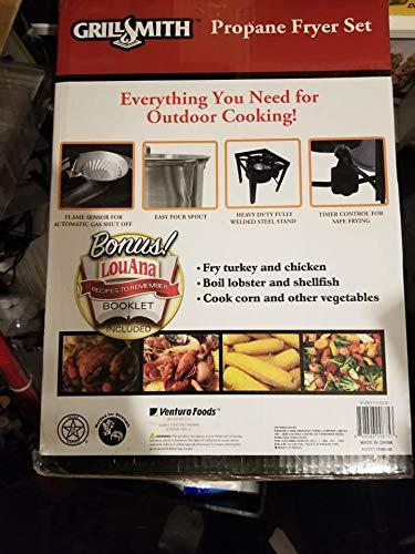 GrillSmith 30 Quart Propane Turkey Fryer Set 848696008753