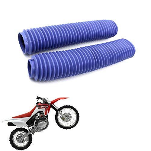 Crf Fork Seals - Dirt Bike Off-Road Front Fork Anti-Dust Cover Gaiter Boots For CRF XR YZ WR TTR KLR KX KLX DR RMX RMZ Enduro FC TE FE EXC XC-W XCF-W EXC-F Blue
