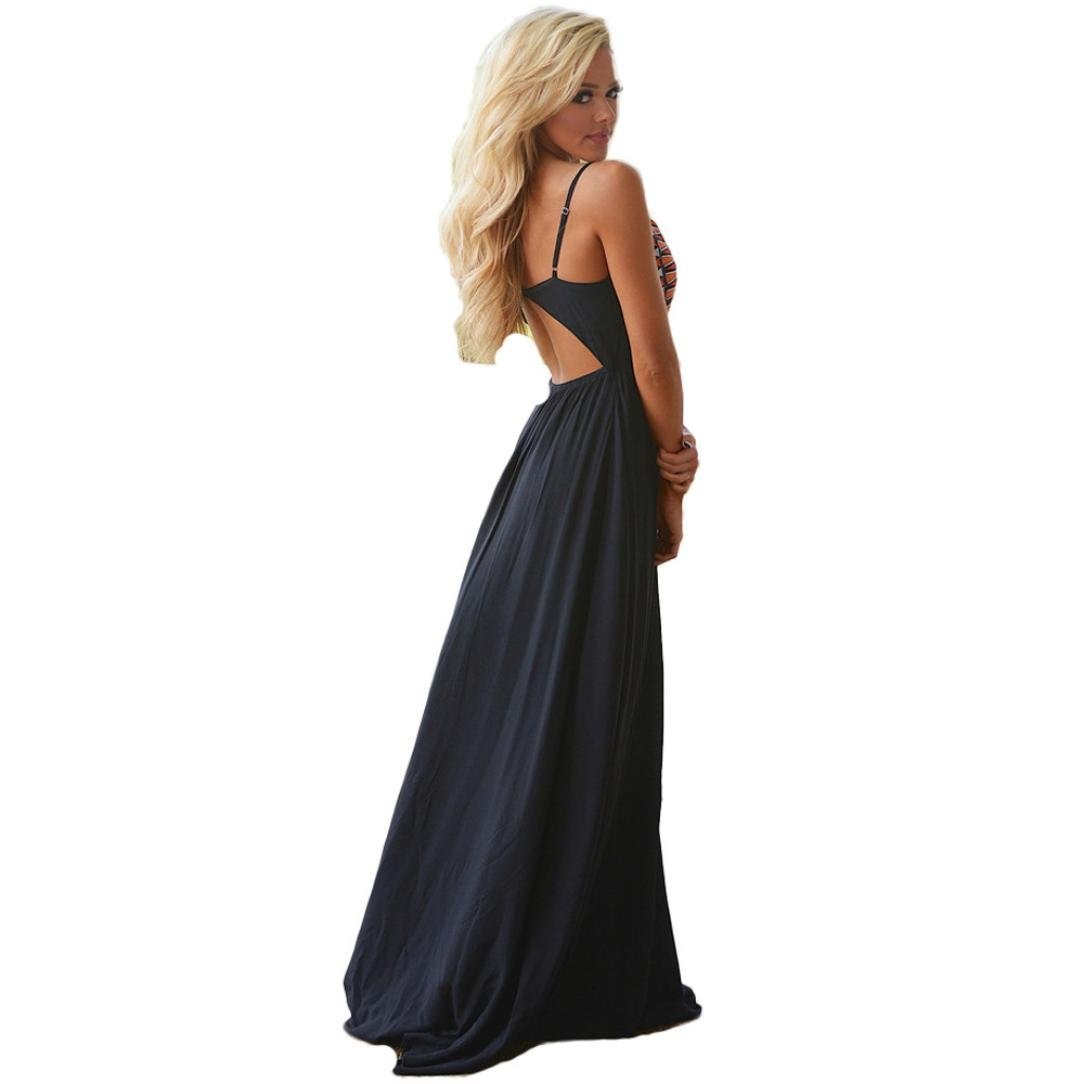 Usstore Women Camisole Long Dress Cotton Sleeveless Dresses (XL, Black) by Usstore (Image #9)