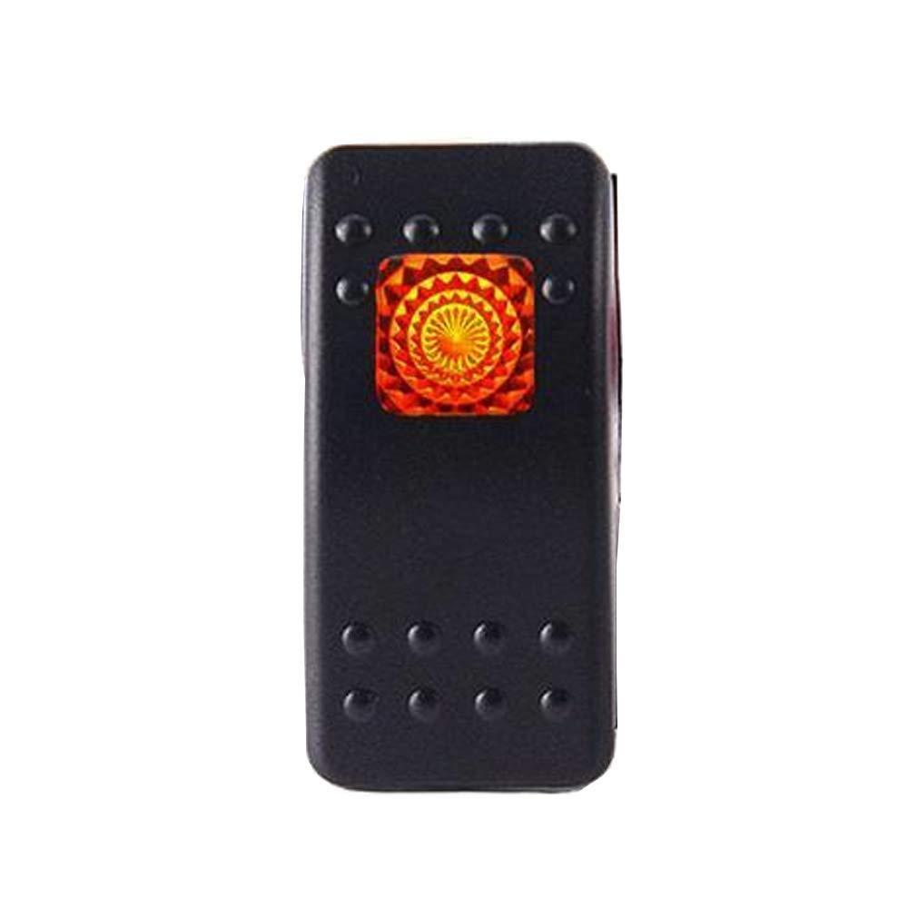 Mintice/™ 5 X auto blu marino veicolo LED della lampada spia del pulsante interruttore a levetta trattino 4 pin