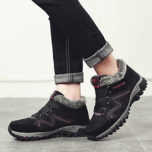d6d760f10 Para Al Nieve Fur De Impermeables Invierno Acampar Negro Zapatillas Libre Mujeres  Senderismo Aire Zapatos Trekking Calientes Gracosy Botas PiTukZOX