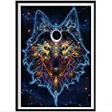 6 head embroidery machine - Clearance Sale 5D Diamond Painting Rhinestone Universe Starry Sky Wolf Head Embroidery Wallpaper DIY Wall Sticker Drawing Artwork for Kids Tools by Number Kits Decoration 30X45CM