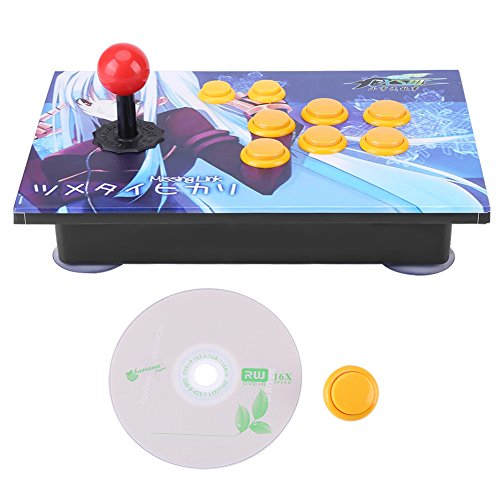 PC Arcade Game USB Stick Buttons Controller Zero Delay 8 Directions Joystick Control Device for PC Win7/ Win8/ Win10 ()