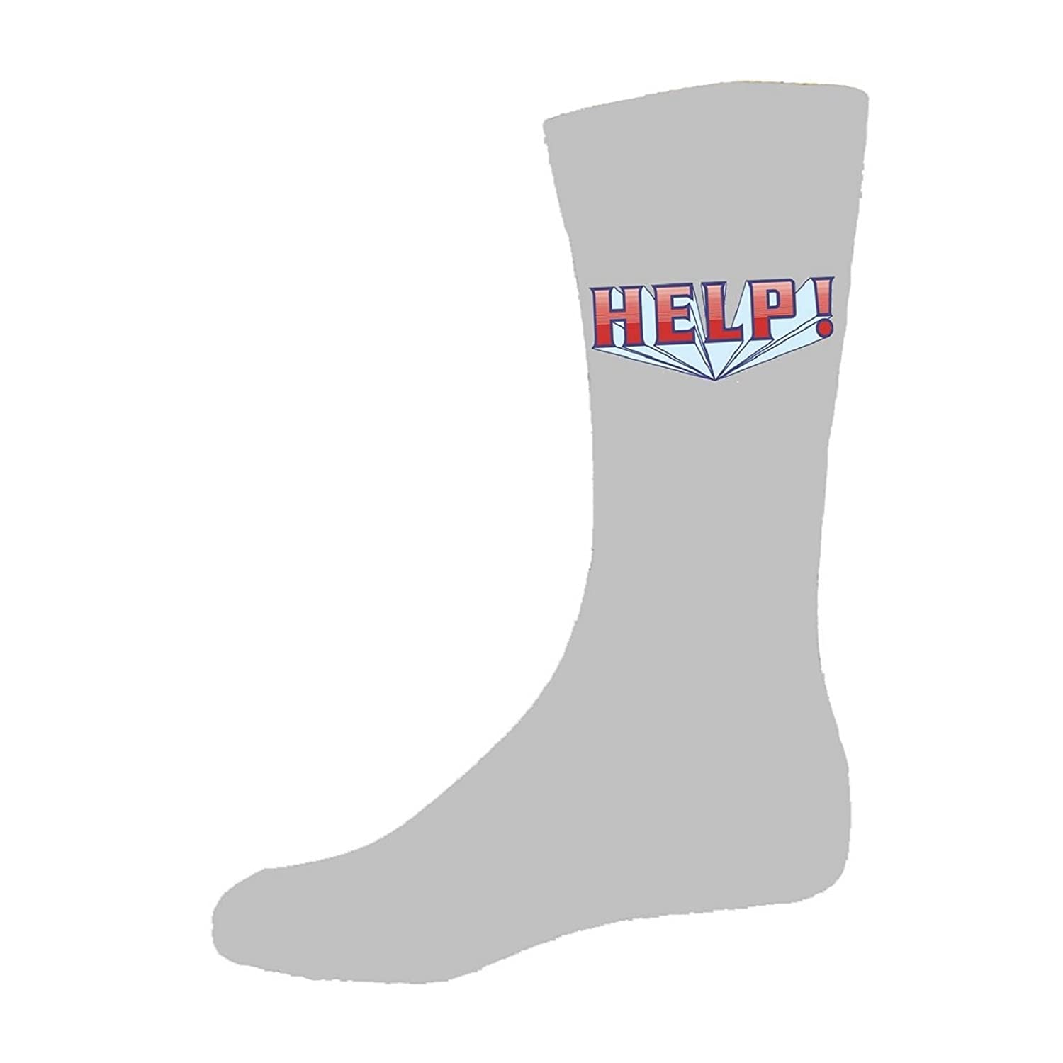 The Beatles Help! Comic Book Logo Official Womens Grey Socks (Uk Size 4-7)