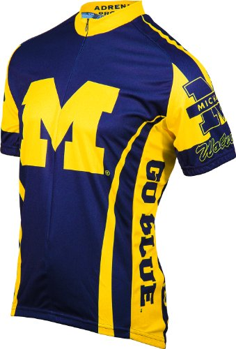 Adrenaline Bicycle - Adrenaline Promotions Michigan Cycling Jersey, Blue/Yellow, XXX-Large