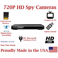 SecureGuard DVD Player 720P Spy Camera SD Card DVR Nanny Camera