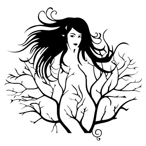 SODIAL(R) Creative Sexy Girl Tree Removable Wall Sticker Decal Home Decor Vinyl Mural Art 1pcs£¨black£4372cm