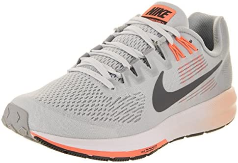 Nike Women s Air Zoom Structure 21 Running Shoe Wolf Grey Dark Grey-Pure Platinum 9.5