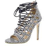Fashion Women's Fish Lips Shoes Cross Strap Non-Slip Ladies High Heel Sandals White