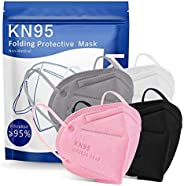100Pcs Adult _n95_ Disposable Certified Face_Mask,Disposable 5 Layers Non-woven Protective Face Covering, Brea
