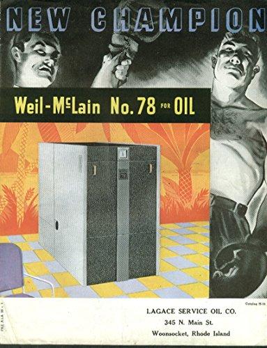 Weil-McLain #78 Heating Boiler for Oil folder 1940s