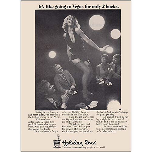 RelicPaper 1973 Holiday Inn: Its Like Going to Vegas for Only 2 Bucks, Holiday Inn Print Ad