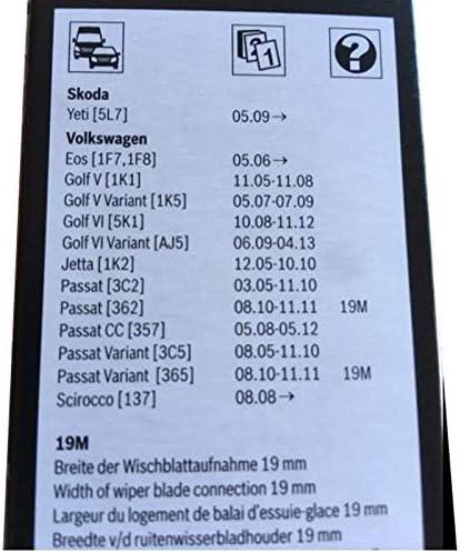 Amazon.com: 2 limpiaparabrisas de fábrica para VW Jetta 2011 ...