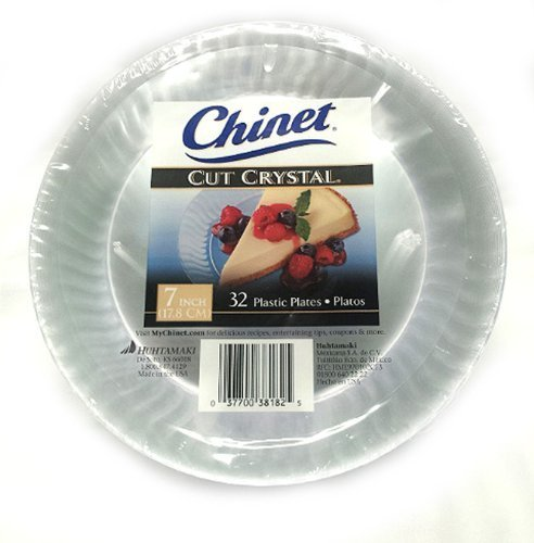 Chinet Cut Crystal Clear Plastic 7 inch Plates 32 ct.