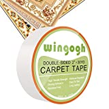 #2: Double Sided Carpet Tape - Wingogh Multi-Purpose Double Sided Duct Tape Removable Anti Slip Non Skid Rug Pad Carpet Underlayment Adhesive Indoor and Outdoor Better than Rug Gripper, 2-Inch x 30 Yards