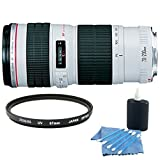 Canon EF 70-200mm f/4L USM Telephoto Zoom Lens for Canon SLR Cameras w/ Cleaning Kit and UV Protective Filter