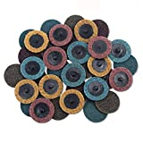SODIAL 30PCS 2 inch Roloc Disc Mixed Pack(Coarse/Medium/Fine), Quick-Change Surface Conditioning Discs - for Die Grinder Surface Prep Strip Grind Polish Finish Burr Rust Paint Removal