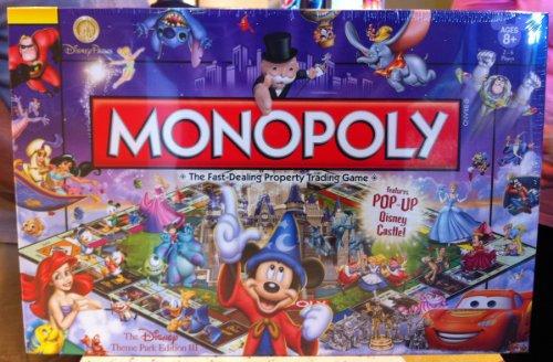 Disney Theme Park Edition Monopoly Game Castle (Disney New Card Game)