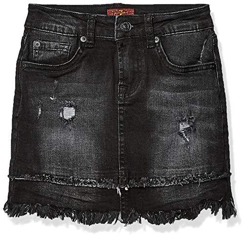 7 For All Mankind Girls' Big Mini Skirt, Vintage Noir, 12