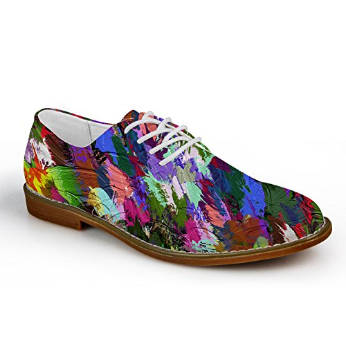 Abbracci Idea Plaid Mens Fashion Oxford Dress Shoe Graffiti 3