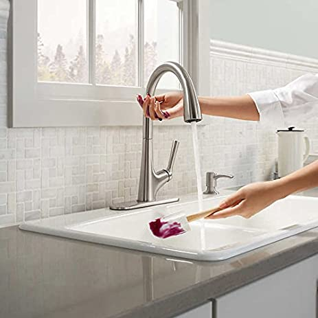 Kohler Malleco Touchless Pull-down Kitchen Faucet with Soap ...