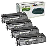 LD © HP Remanufactured CE505A (05A) Set of 4 Black Laser Toner Cartridges for the P2035/P2055 Printers, Office Central