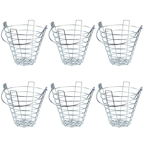 Crown Sporting Goods Steel Wire Golf Range Buckets: Metal Ball Carrying Practice Container with Handle - Holds 144 Balls from Crown Sporting Goods