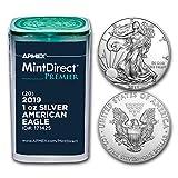 2019 1 oz Silver Eagles (20-Coin MintDirect® Premier Tube) Brilliant Uncirculated