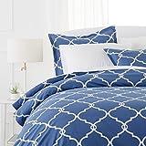 Pinzon 300-Thread-Count 100% Cotton Cool Percale Duvet Cover Set, King, Bijou Blue